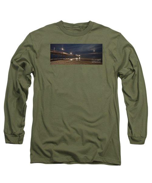 Avon Pier At Night Long Sleeve T-Shirt