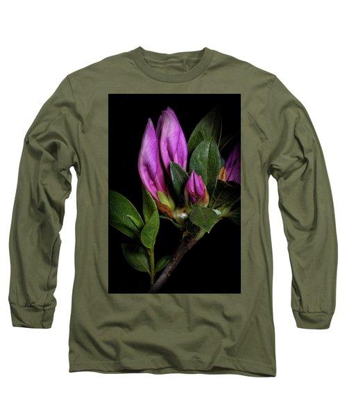 Azalea Buds Long Sleeve T-Shirt by Richard Rizzo