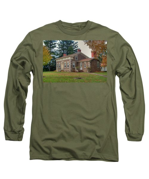 Long Sleeve T-Shirt featuring the photograph Babcock House Autumn 13937 by Guy Whiteley