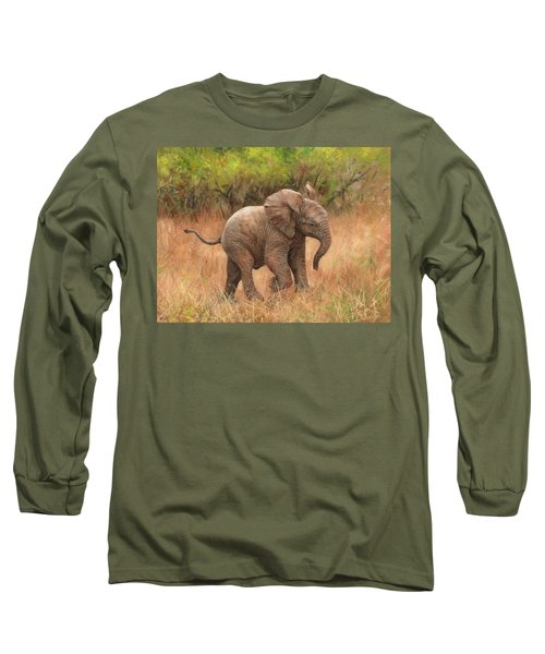 Baby African Elelphant Long Sleeve T-Shirt