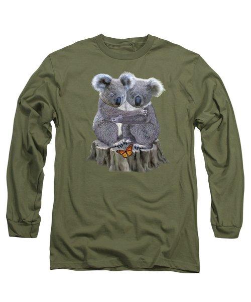 Baby Koala Huggies Long Sleeve T-Shirt by Glenn Holbrook