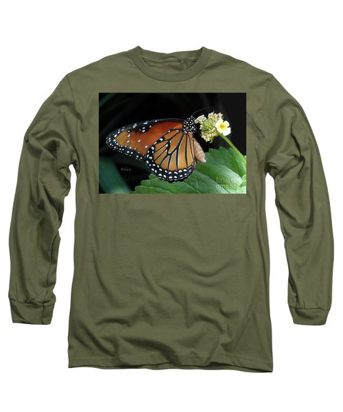 Baby Monarch Macro Long Sleeve T-Shirt by Felipe Adan Lerma