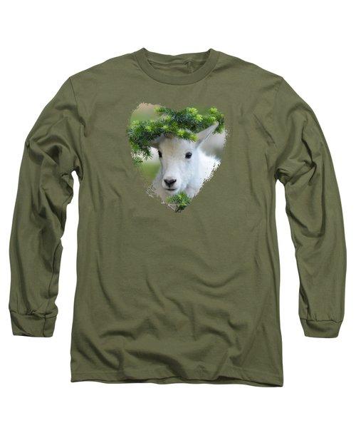 Baby Mountain Goat Heart Long Sleeve T-Shirt