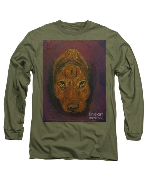 Long Sleeve T-Shirt featuring the painting Baby Niko Pitty by Ania M Milo