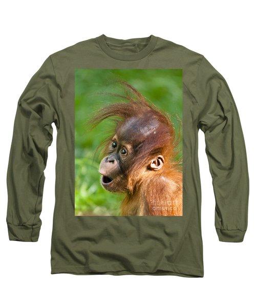 Baby Orangutan Long Sleeve T-Shirt