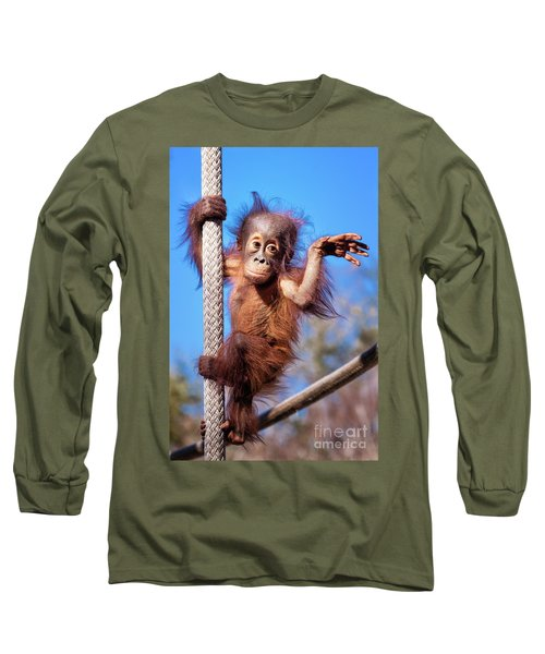 Baby Orangutan Climbing Long Sleeve T-Shirt
