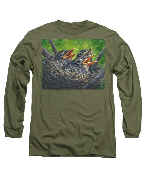 Baby Robins Long Sleeve T-Shirt by Kim Lockman