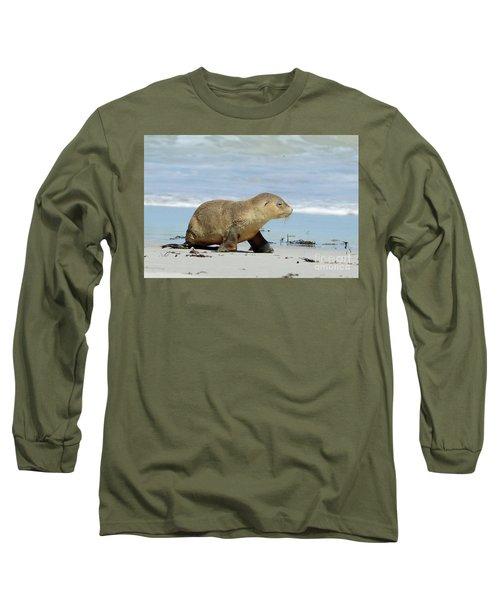 Baby Sea Lion On Seals Bay Long Sleeve T-Shirt
