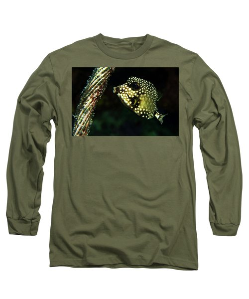 Long Sleeve T-Shirt featuring the photograph Baby Trunk Fish by Jean Noren