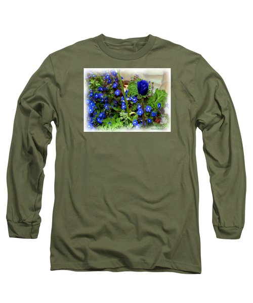 Long Sleeve T-Shirt featuring the painting Babys Got The Blues by Patricia Griffin Brett