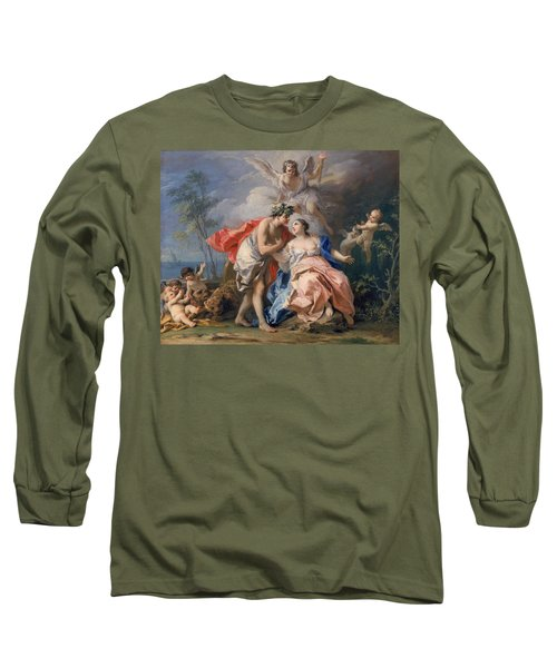 Bacchus And Ariadne Long Sleeve T-Shirt by Jacopo Amigoni