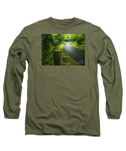 Back Road Long Sleeve T-Shirt by Alana Ranney