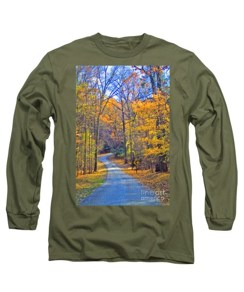 Long Sleeve T-Shirt featuring the photograph Back Road Fall Foliage by David Zanzinger