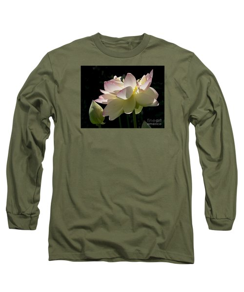 Backlit Lotus Blossom Long Sleeve T-Shirt
