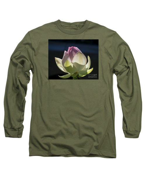 Backlit Lotus Bud 2015 Long Sleeve T-Shirt
