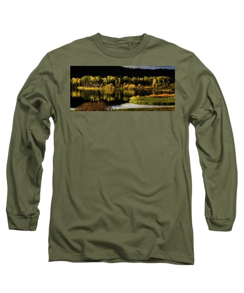 Backwater Blacks At Oxbow Bend Long Sleeve T-Shirt