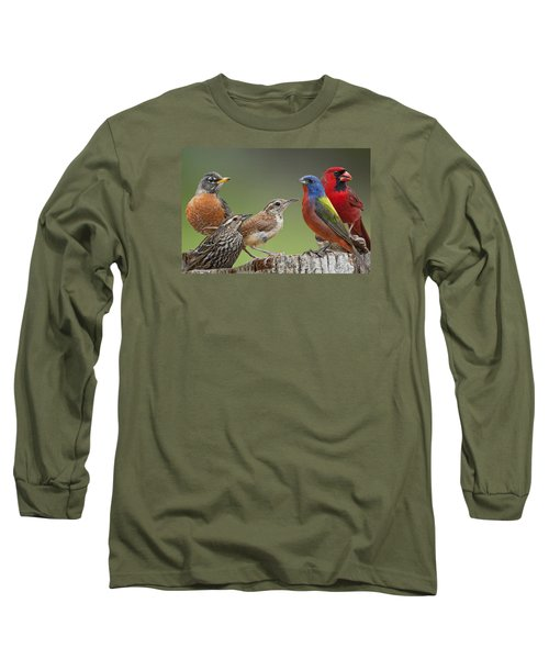 Backyard Buddies Long Sleeve T-Shirt by Bonnie Barry