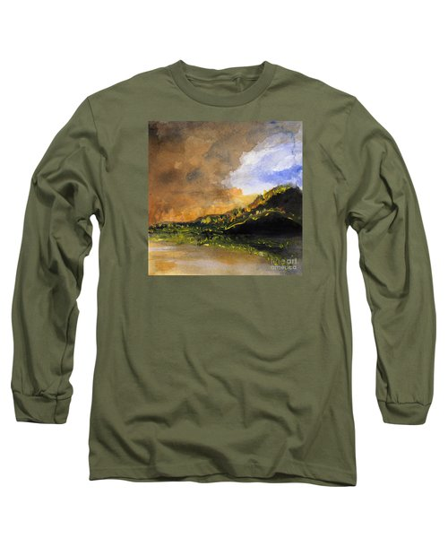Bad Night Coming Cross The Bay Long Sleeve T-Shirt by Randy Sprout