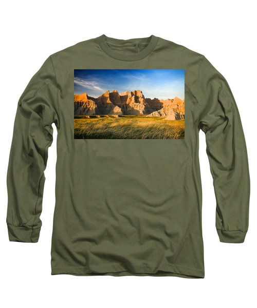 Long Sleeve T-Shirt featuring the photograph Badlands In Late Afternoon by Rikk Flohr