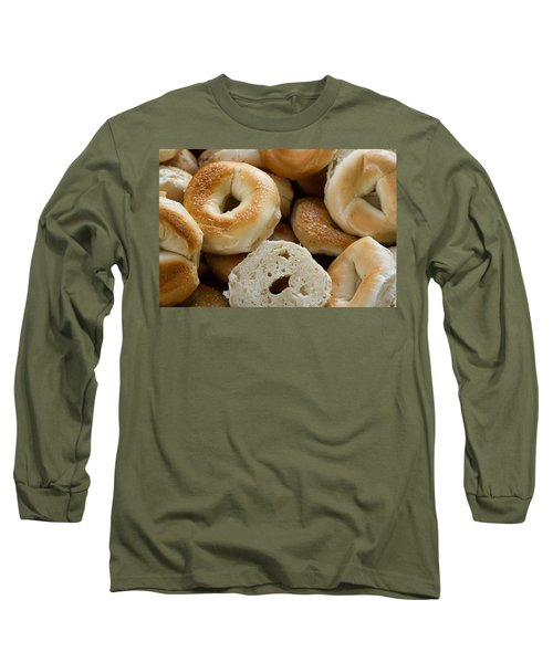 Bagels 1 Long Sleeve T-Shirt by Michael Fryd