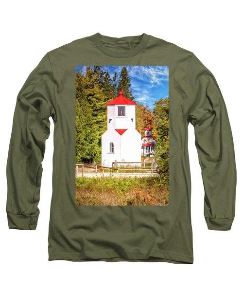 Baileys Harbor Range Light Long Sleeve T-Shirt