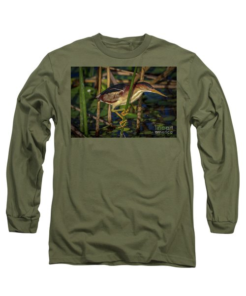 Balanced Perch Bittern Long Sleeve T-Shirt