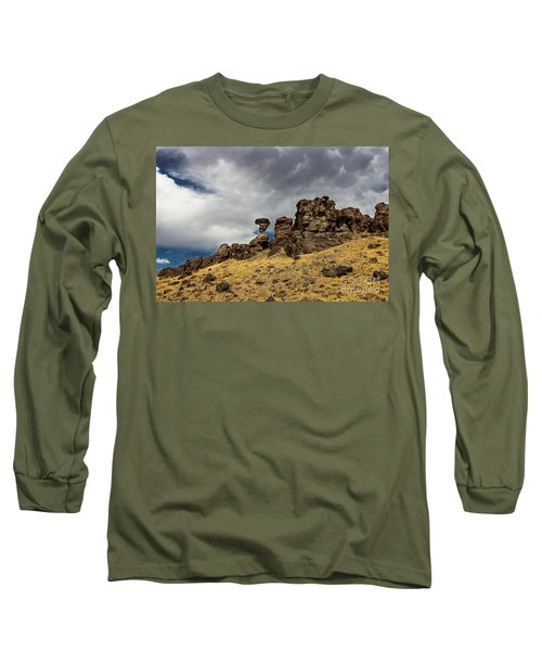 Balanced Rock Adventure Photography By Kaylyn Franks Long Sleeve T-Shirt