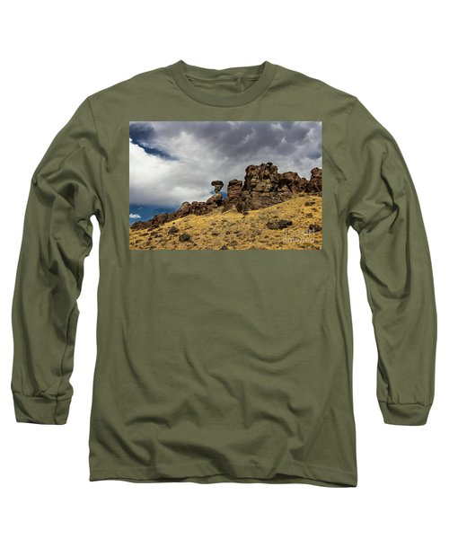 Balanced Rock Idaho Journey Landscape Photography By Kaylyn Franks Long Sleeve T-Shirt