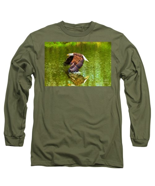 Bald Eagle Cutting The Water Long Sleeve T-Shirt