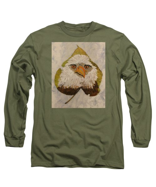 Bald Eagle Front View Long Sleeve T-Shirt by Ralph Root