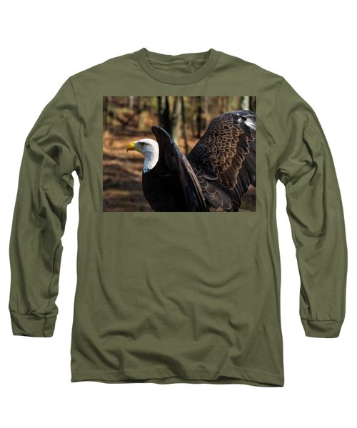 Bald Eagle Preparing For Flight Long Sleeve T-Shirt
