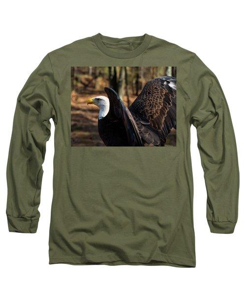 Bald Eagle Preparing For Flight Long Sleeve T-Shirt