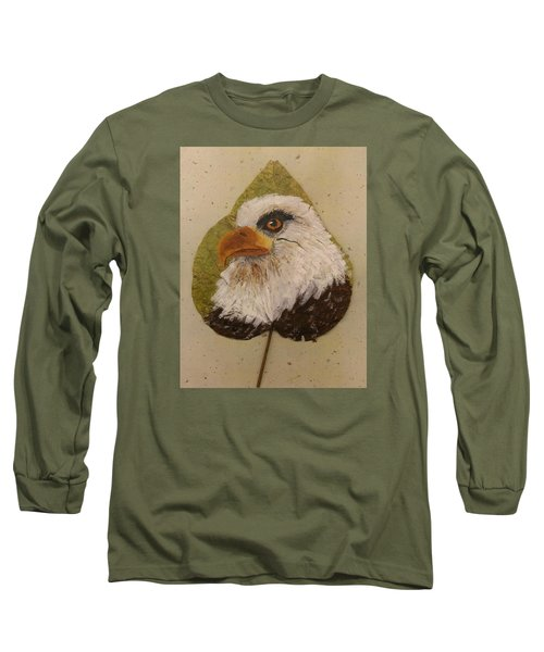 Bald Eagle Side Veiw Long Sleeve T-Shirt by Ralph Root