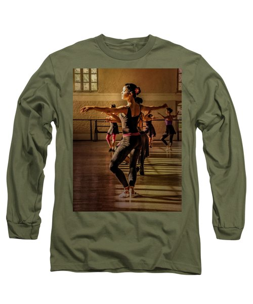 Long Sleeve T-Shirt featuring the photograph Ballerina by Lou Novick