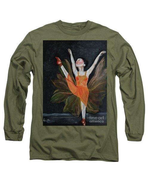 Ballet Dancer 1 Long Sleeve T-Shirt by Brindha Naveen