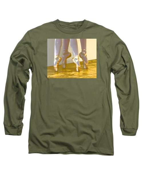 Ballet Second Position In Gold Long Sleeve T-Shirt