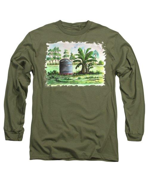 Banana And Tank Long Sleeve T-Shirt by Anthony Mwangi