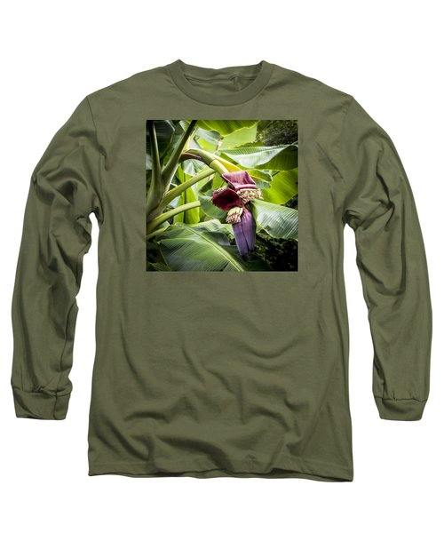 Banana Beginnings Square Long Sleeve T-Shirt by Kerri Ligatich