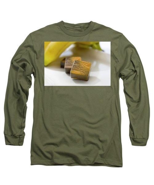 Banana Chocolate Long Sleeve T-Shirt by Sabine Edrissi