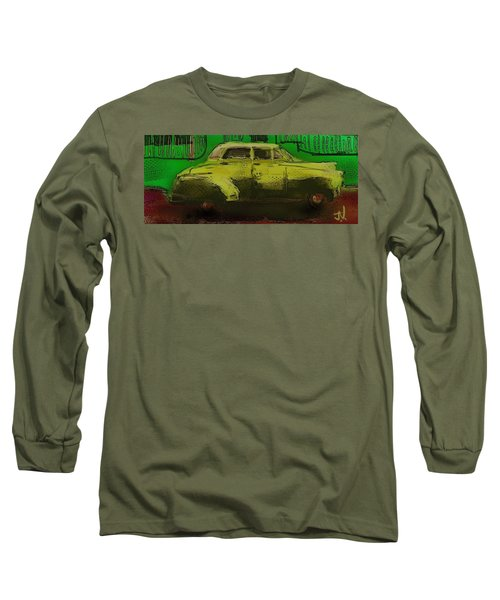 Long Sleeve T-Shirt featuring the painting Banana Yellow by Jim Vance