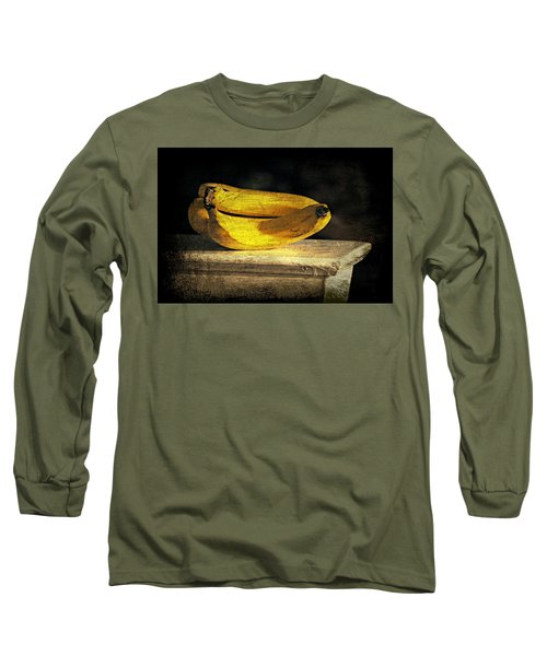 Long Sleeve T-Shirt featuring the photograph Bananas Pedestal by Diana Angstadt