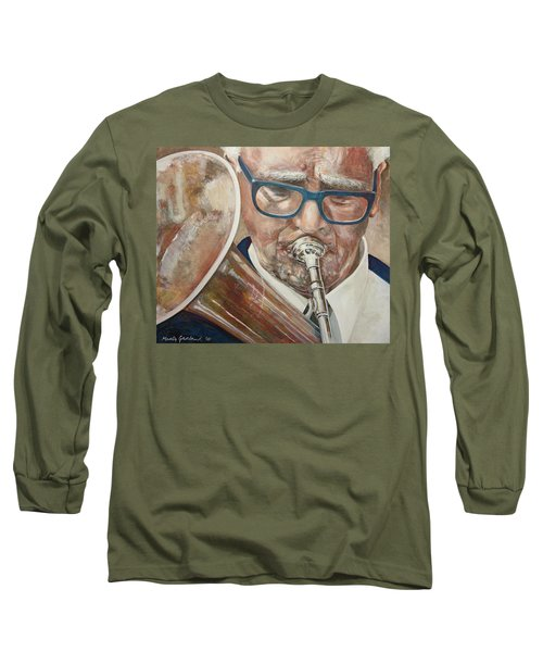 Band Man Long Sleeve T-Shirt by Marty Garland