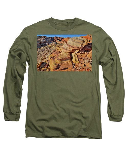 Bands Of Colorful Sandstone In Valley Of Fire Long Sleeve T-Shirt