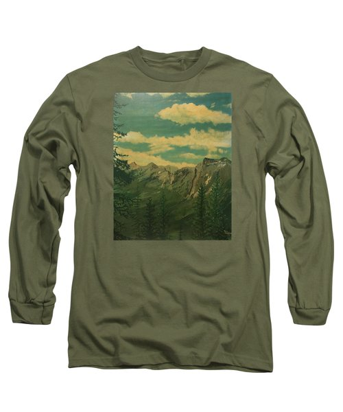 Long Sleeve T-Shirt featuring the painting Banff by Terry Frederick