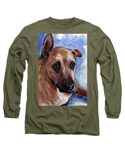 Long Sleeve T-Shirt featuring the painting Banks by Molly Poole