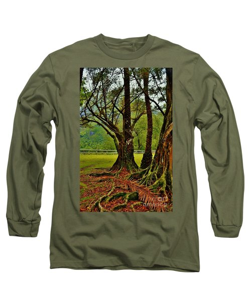 Banyan Tree And Date Palm Long Sleeve T-Shirt