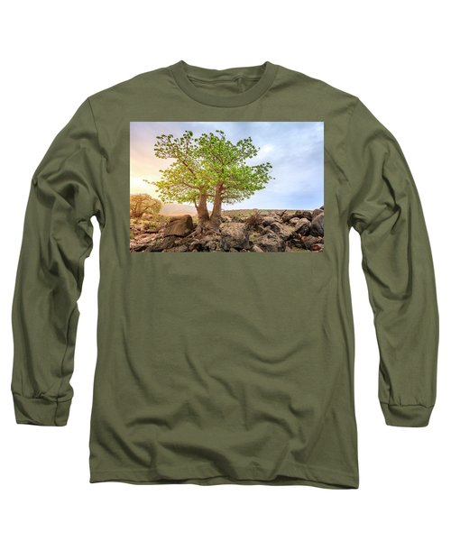 Long Sleeve T-Shirt featuring the photograph Baobab Tree by Alexey Stiop