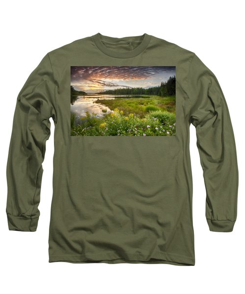 Bar Harbor Maine Sunset One Long Sleeve T-Shirt
