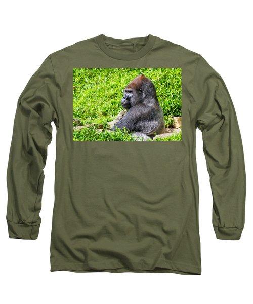 Baraka - Western Lowalnd Silverback Gorilla Long Sleeve T-Shirt