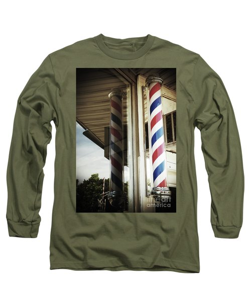 Barbershop Pole Long Sleeve T-Shirt